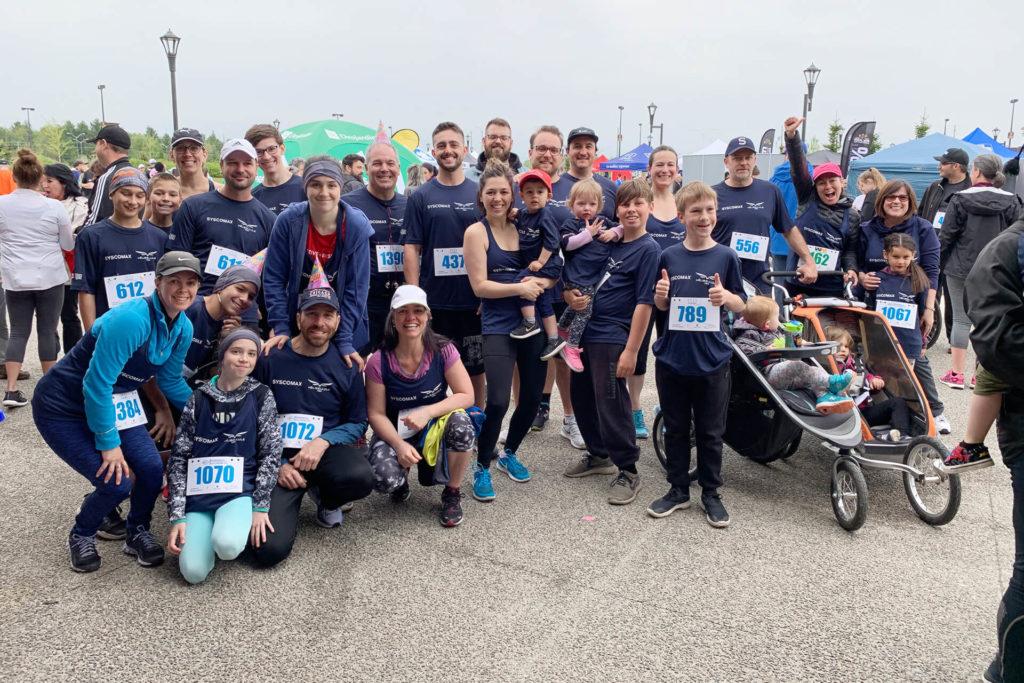 Photo d'équipe Syscomax à l'événement Courir à notre santé